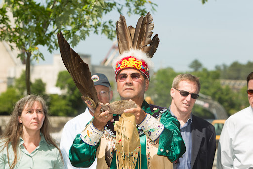 Butch Phillips, tribal elder from Penobscot Indian Nation. Photo from Penobscot River Restoration Trust.