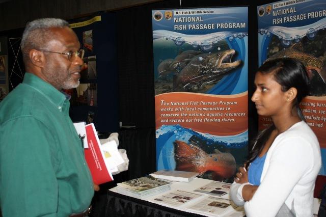 U.S. Fish and Wildlife Service Employees at Fish Passage 2012. Credit: Catherine J. Hibbard/USFWS