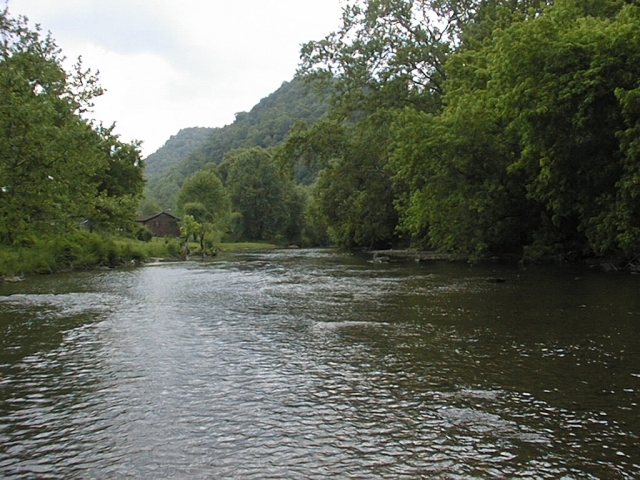 Photo of the Clinch River, recognized as the nation's top hotspot for freshwater mussel diversity. Credit: USFWS