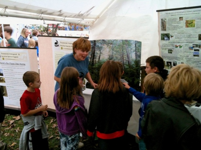 Talking to children at the Mountain State Forest Festival. Credit: Dan Arling/USFS