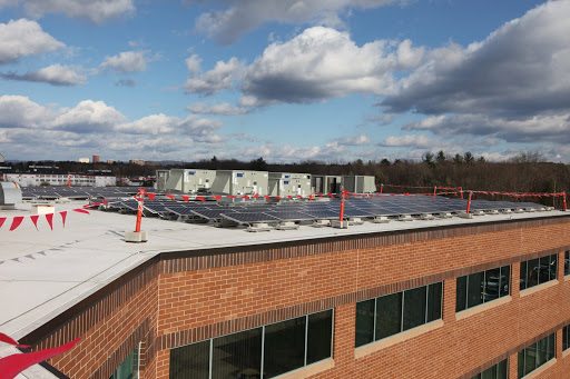 Solar panels on the roof at the Service's Northeast Regional office in Hadley, Mass.