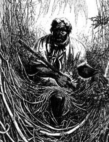 A maroon slave from an 1856 issue of Harper's New Monthly. Credit: Cornell University Library