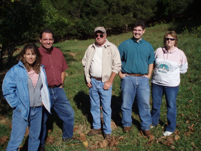 Service on a site visit with our partners at a stream restoration project for the federally endangered Roanoke logperch (Percina rex).Photo caption: From left to right; Kim Smith (USFWS), David Byrd (USFWS), P.W. Morgan (Blue Ridge Soil and Water Conservation District), Tony Goff (Blue Ridge Soil and Water Conservation District), Bridgett Costanzo (USFWS). Credit: William Hester, USFWS