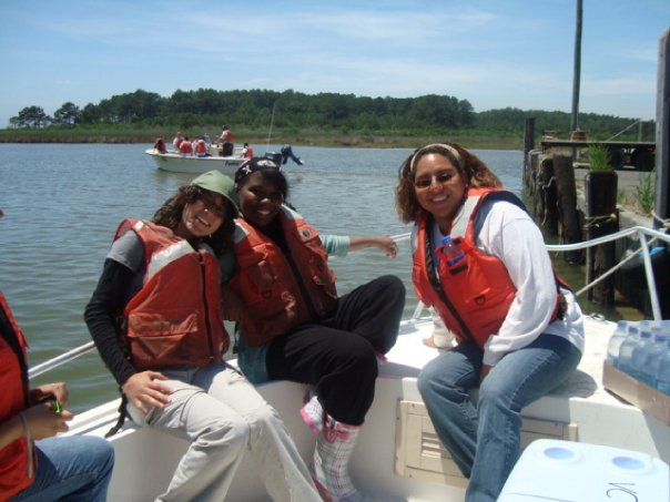 Emarie and others riding along the coast of the refuge. Credit: USFWS