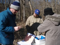 An example of the extensive survey and planning efforts leading up to the removal. Credit: Musconetcong Watershed Association