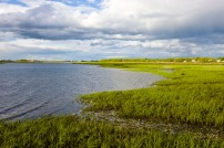 The salt marsh side of Long Beach in Stratford, Connecticut. This body of water is known as Lewis Gut and is adjacent to the Great Meadows Unit of McKinney National Wildlife Refuge. Credit: Jerry and Marcy Monkman, EcoPhotography
