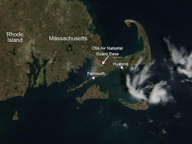 Satellite image of Cape Cod.