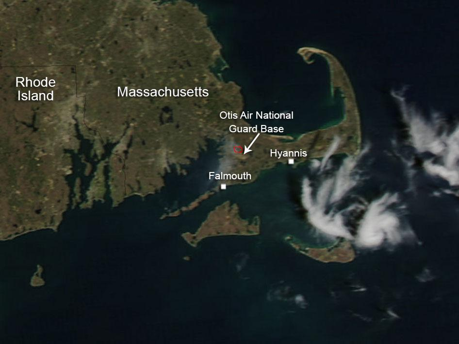 Satellite image of Cape Cod.