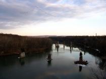 Potomac River from James Rumsey Bridge in Shepherdstown, W.Va. From Creative Commons Flickr user thisisbossi