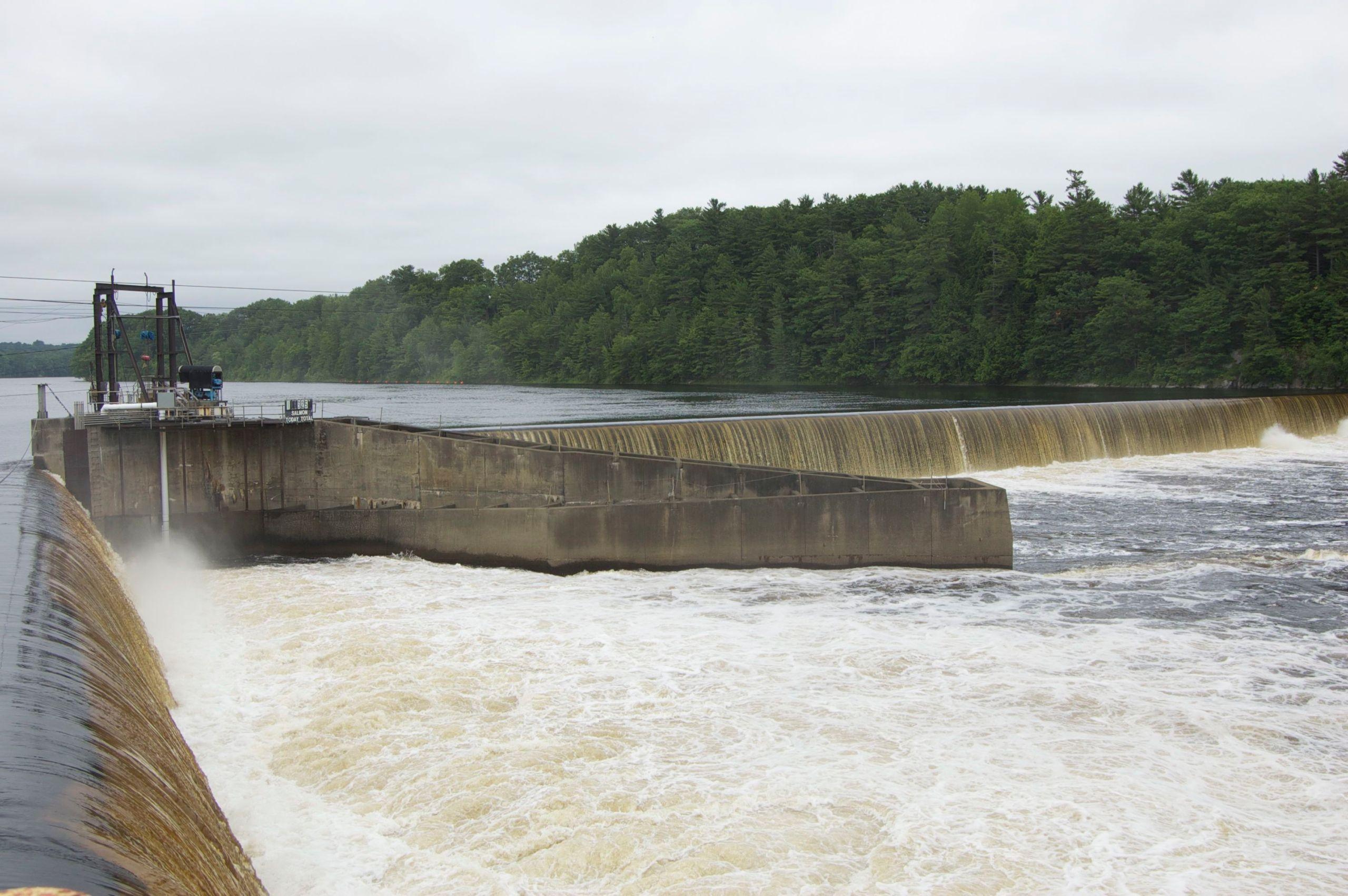 Photo of Veazie Dam from Penobscot River Restoration Trust, http://flic.kr/p/f6Aoum