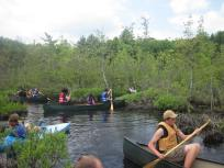 Another shot of Bristol Aggie kids in the canoes. Credit: Kurt Buhlmann