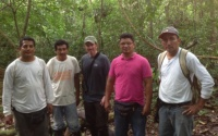 "Field crew in Ucayali. The two on the left, Elias Gil and Juan Vargas, are ""Materos"" – trail openers. Photo courtesy of John."