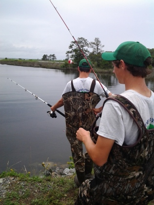As part of the Youth Conservation Corps experience, we provide crew members days for environmental education and outdoor recreation, like this fishing day at the refuge.