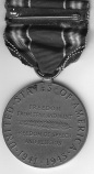 The back of Darrell's father's World War II medal. Image courtesy of Darrell.