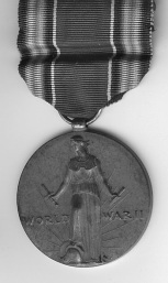 The front of Darrell's father's World War II medal. Image courtesy of Darrell.
