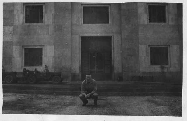 Darrell's father, a World War II veteran, in Italy on May 23, 1944. Image courtesy of Darrell.