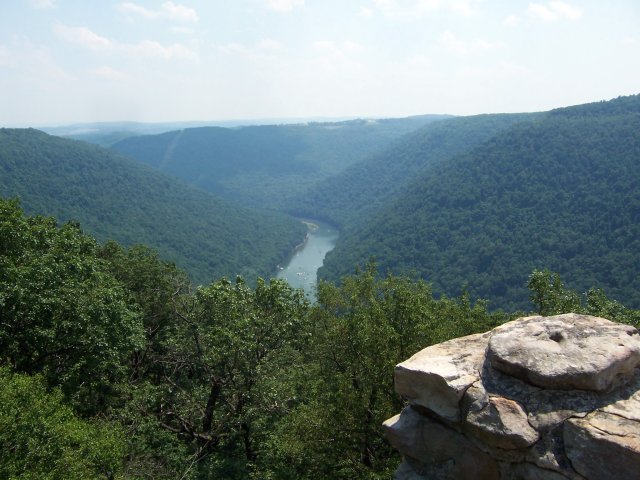 Cheat River Gorge from overlook - Coopers Rock State Forest, West Virginia. Photo from Flickr Creative Commons user Jon Dawson.