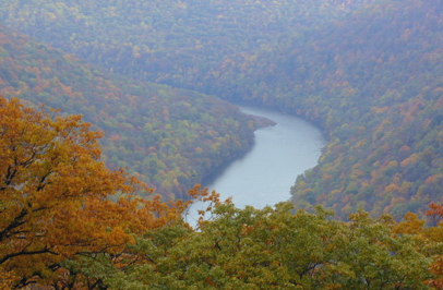 Cheat River gorge. Credit: Craig Stihler, West Virginia Division of Natural Resources