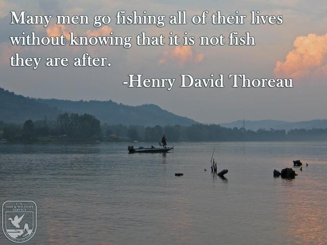 guy fishingHenry David ThoreauMEME