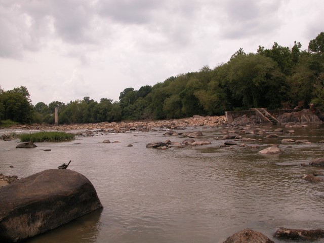Dam removal is complete: A free flowing Appomattox River. Photo credit: USFWS/ Albert Spells
