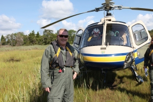 I'm Rick Bennett, Regional Scientist for the Northeast Region. This week, I am part of a team taking to the air to tour some of the locations that were devastated by Hurricane Sandy. Each evening, I will be sharing a little about what we saw, the projects on the ground and how we are working to ensure the coastline and the surrounding communities are #StrongAfterSandy.  (Lia McLaughlin/USFWS)