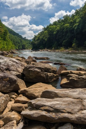 Standing high at West Virginia's Cheat Canyon