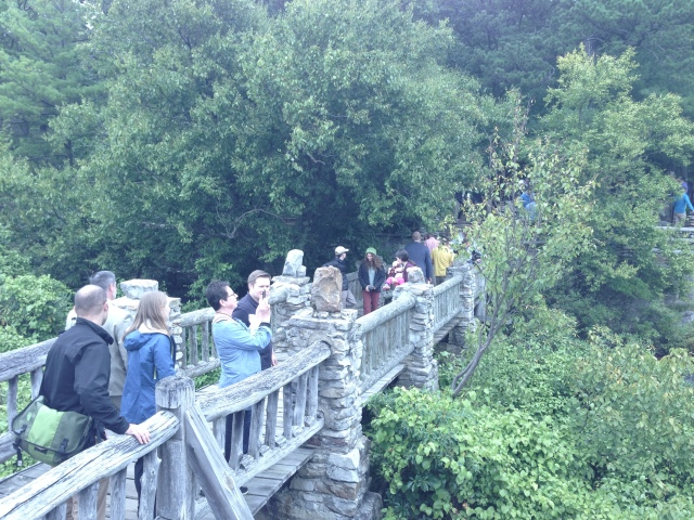 Visitors enjoying the majestic views of West Virginia's mountains at Cheat Canyon. Photo credit: USFWS/John Schmidt