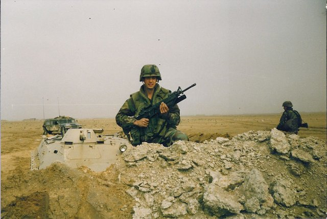 Damien Martelli, during Desert Storm. via USFWS