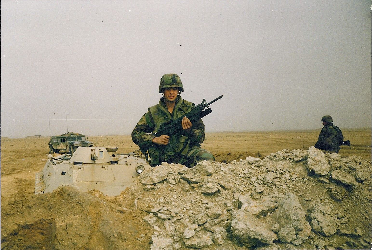 Wildlife inspector Damian Martelli serving in Desert Storm. Photo credit: USFWS