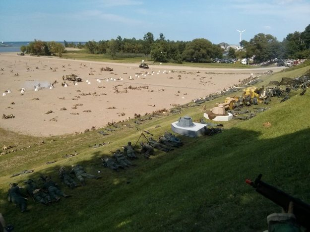 View of the beach where the re-enactment took place. Photo: Damian Martelli