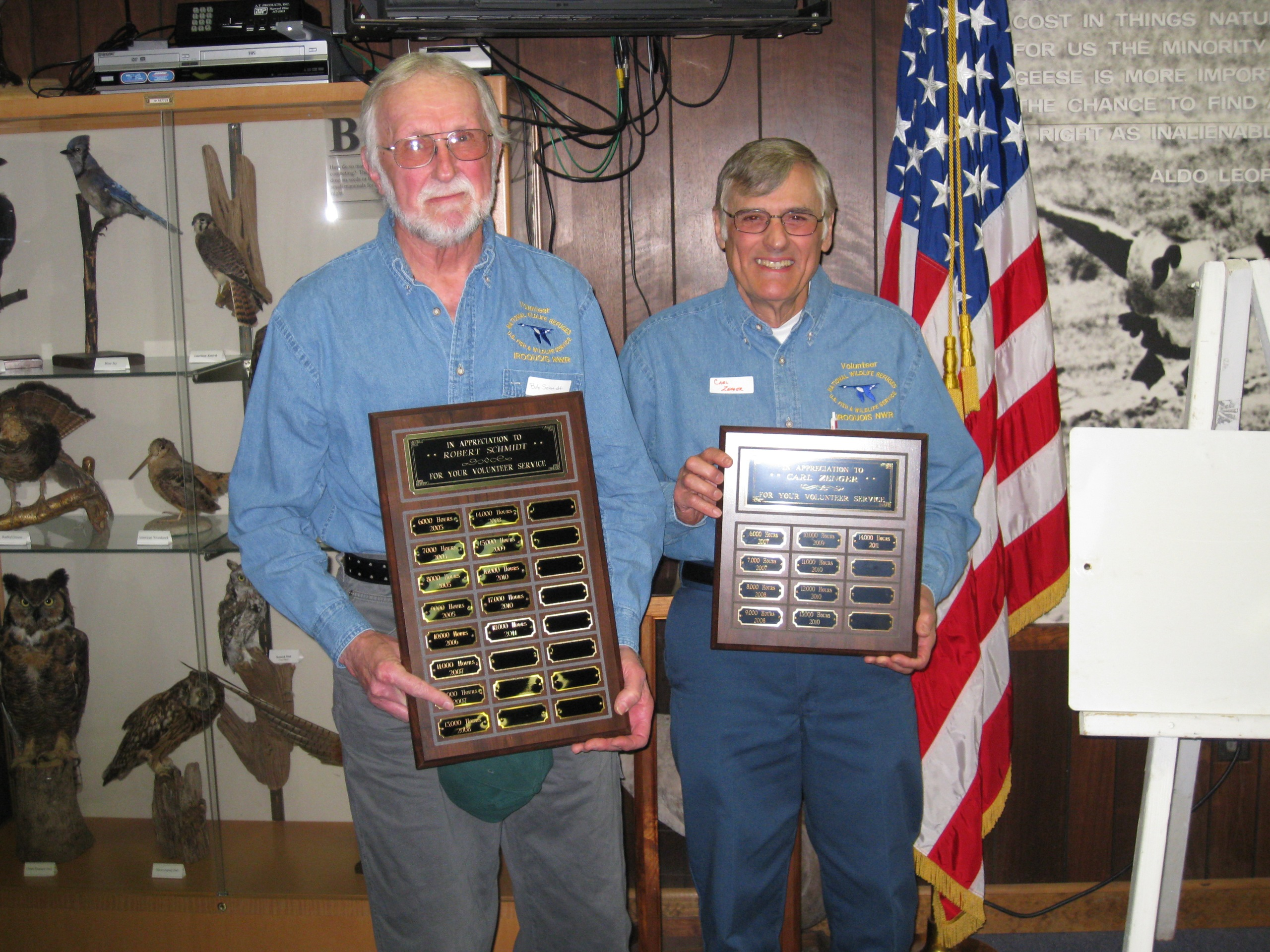 Bob Schmidt and Carl Zenger. Credit: USFWS