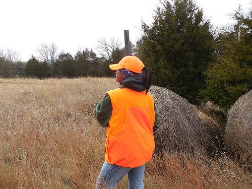 A classmate of Chris' on the final hunting day. Photo courtesy of the Conservation Leaders for Tomorrow.