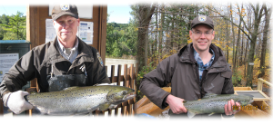 Bill and Nick are fisheries biologists working to restore Atlantic salmon to their native habitats in the Lake Champlain Basin. Photo credit: USFWS