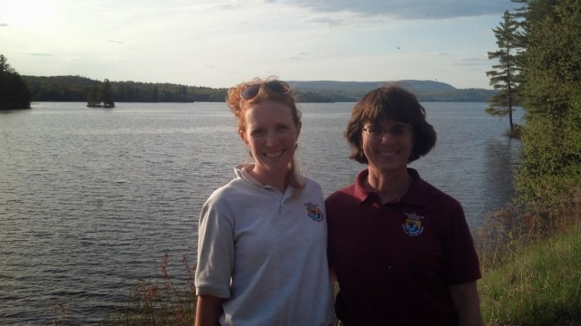 Amy and one of her mentors Anne Secord, another #ScienceWoman in the New York Field Office! Photo courtesy of Amy.