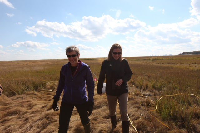 Touring Edwin B. Forsythe National Wildlife Refuge with U.S. Department of the Interior Secretary Sally Jewell