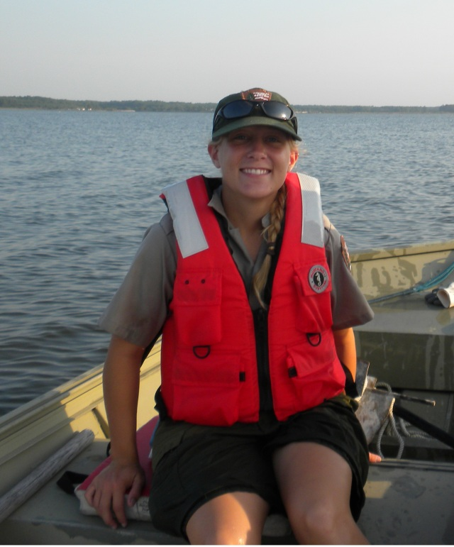 Amber while she was working with the National Park Service at Assateague. Photo courtesy of Amber.