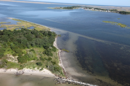 Fog Point in Smith Island, Maryland, where 21,000 feet of living shoreline planned for the site will protect near by communities and coastline.