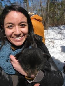 Tanya with cub_close up