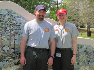Art Canterbury, a fire management officer at Blackwater National Wildlife Refuge, and Catherine Hibbard were among five U.S. Fish and Wildlife Service employees responding to the De Soto Aviation Incident.