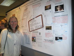 Catherine Hibbard presented a white-nose syndrome communication poster at the North American Joint Bat Working Group meeting.