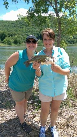 Cristina and Patty show off the catch of the day! Photo credit: NWTF