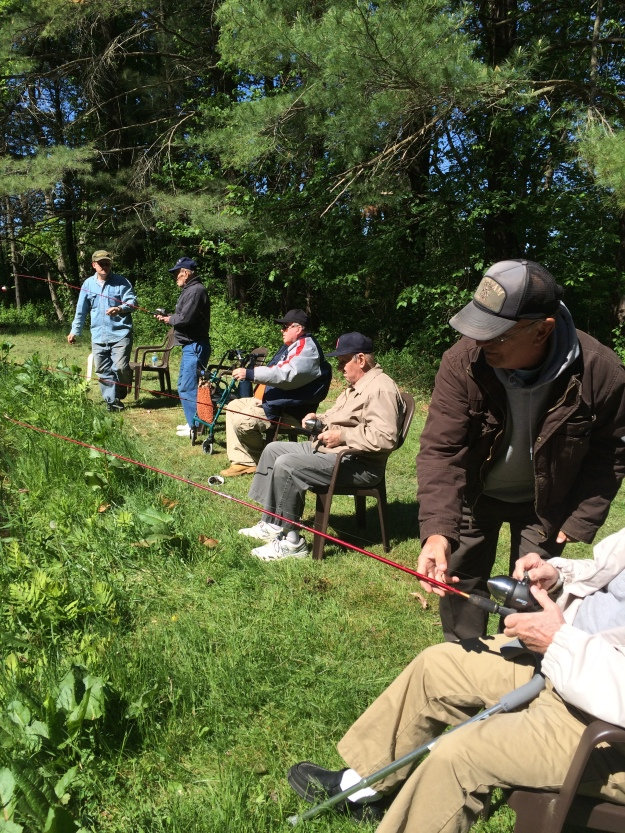 These Veterans are enjoying a day outside fishing. Photo credit: USFWS