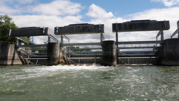 The dam below Cayuga Lake impedes sturgeon migration to their spawning grounds. Photo credit: USFWS