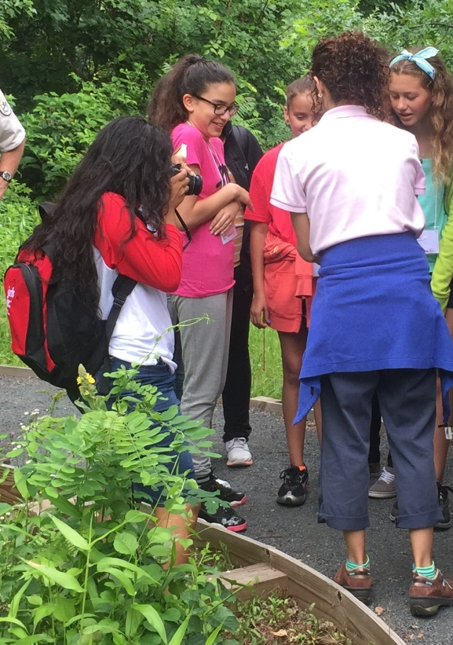 Here I am taking photos of one of the Girls Inc. field trips to the refuge. Photo credit: Girls Inc.