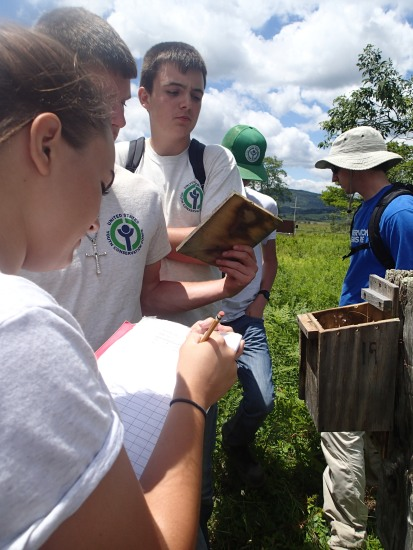 Among their many tasks, the YCC crew at Canaan Valley NWR monitored bluebird boxes for new eggs, abandoned nests, or empty boxes.