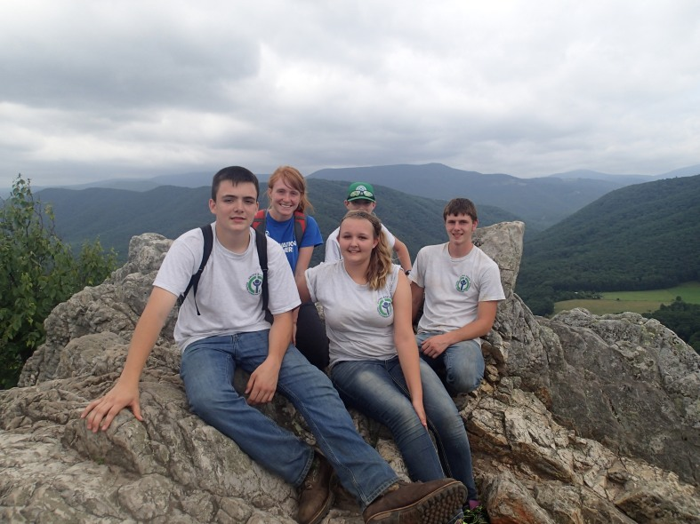 The Canaan Valley NWR YCC Crew, summer 2015. (Photo caption: Holly Black, USFWS.)
