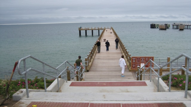 Funding from the Wildlife and Sport Fish Restoration Program helped build this public use fishing pier on Martha's Vineyard, Massachusetts.