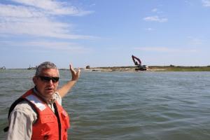 Matt Whitbeck at Fog Point living shoreline