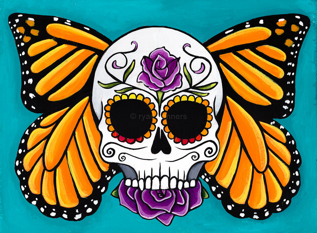 Image result for day of the dead monarch picture
