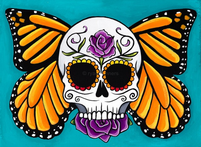 Day of the Dead artwork by Ryan Connors.